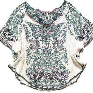 FREE PEOPLE Short-Sleeve Sweater, M